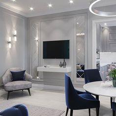 Victorian Home Interior Living Room Wall Units, My Living Room, Living Room Designs, Apartment Interior, Apartment Design, Interior Design Your Home, Neoclassical Interior, Classy Living Room, Hallway Designs