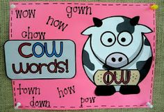 Ow vs. Ou words -freebie in the blog post