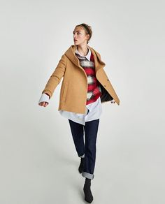 COAT WITH WRAP COLLAR-NEW IN-WOMAN | ZARA United States