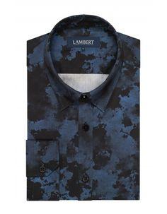 Granatowa koszula męska Lambert 299.90 - wolczanka.pl - Wolczanka.pl sklep internetowy