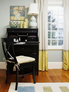 Adding fabric to shorter curtains