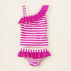 girl - swimwear - one-shoulder tankini | Children's Clothing | Kids Clothes | The Children's Place