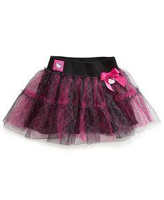 Hello Kitty Kids Skirt, Little Girls Plaid Tutu Skirt - Kids Girls 2-6X - Macy's