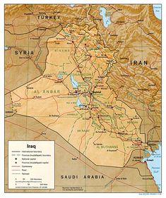 Transportation map of Iraq.