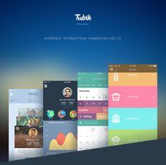 Animation Set 2015 v1.0 on App Design Served by Tubik Studio