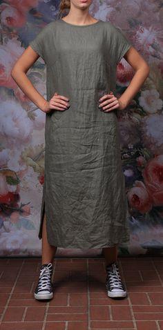 Linen dress. Women dress / Long dress / Linen tunic by LinenCloud