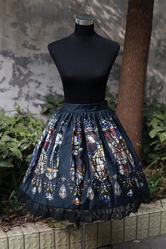 NEVERLAND original Italian church lolita big color window general section SK skirt ONLINE - Taobao