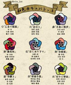 Japanese Colors, Japanese Design, Colour Pallete, Color Schemes, Autodesk Sketchbook Tutorial, Digital Painting Tutorials, Color Balance, Sketch Painting, My Favorite Image