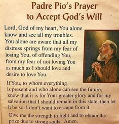 Pio of Pietrelcina, ora pro nobis. Prayer Scriptures, Faith Prayer, Prayer Quotes, Spiritual Prayers, Prayers For Healing, Novena Prayers, Catholic Prayers, Catholic Quotes, Religious Quotes