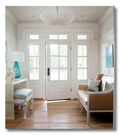 Lessons in design :: 8 different ways to decorate a foyer, by Fieldstone Hill Design