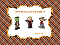More Halloween Multiplication Fun Math Activities, Math Games For Kids, Halloween Math, Halloween Themes, Math Task Cards, Matching Cards, Common Core Math, Little Learners, Multiplication