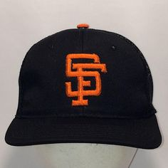 ed63a437e73 Vintage San Francisco Giants Baseball Cap Sports Specialties Snapback Hat  Black MLB Sports Hats For Men Unstructured Mesh Dad Hat T3 MA8226
