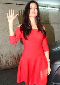 Katrina Kaif arrives for the trailer launch of 'Baar Baar Dekho'.