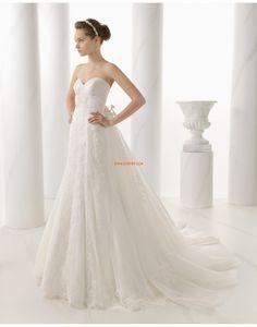 Frühling 2014 Herz-Ausschnitt Natürlich Brautkleider 2014