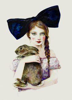 'A Secret Shared'. Giclée Konsttryck av Jennifer Madden - Arte Limited