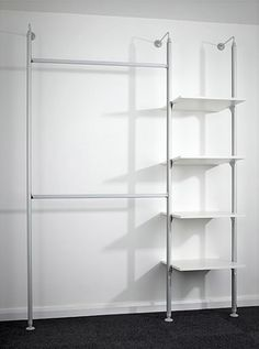 Premier Storage System -      Ideal bedroom storage solutions;     Sturdy 18mm white MFC shelving;     Outstanding value for money;     Width and height can be altered allowing fitting in confined spaces;     Plenty of shelving and hanging space;     Supplied in component form for easy self assembly;