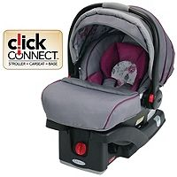 The SnugRide Click Connect 35 baby car seat, in Amelia, is designed to protect babies rear-facing from 4-35 lbs and features a comfortable seat to keep baby safe and cozy. SnugRide Click Connect 35 is equipped with Click Connect technology providing a one-step secure attachment to all Graco Click Connect strollers making it easy to create a travel system that best fits your lifestyle.