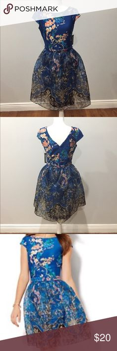 Beautiful blue dress, never been worn! In excellent condition. New York & Company Dresses Midi