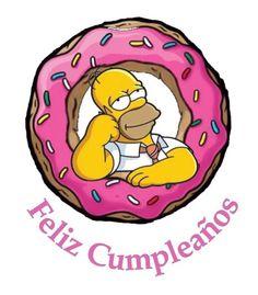 Feliz cumpleaños, Homero dentro de una dona