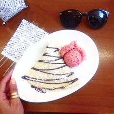 Best crêpe I had is at #venchi 's place  in #Milan @rebeccaminkoff  #rebeccaminkoff