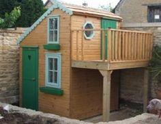 Playhouses outdoor with raised veranda