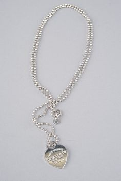 "Tiffany & Co. Sterling Silver ""Return To Tiffany "" Heart Tag & Necklace #buyauthentic www.shopRDR.com"