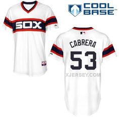 http://www.xjersey.com/white-sox-53-cabrera-white-cool-base-jerseys.html WHITE SOX 53 CABRERA WHITE COOL BASE JERSEYS Only $43.00 , Free Shipping!