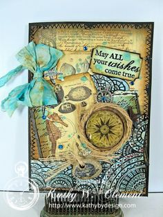 Kathy Clement/7 Gypsies Maritime papers and Canvas Corp Tangles