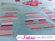 The Silhouette cutting machines are gaining more and more popularity in the sewing and applique world. It's no wonder when you consider how crisp of cut lines you can get when cutting fabric with Silh