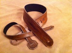 Handmade leather adjustable guitar strap with a black suede backing. by FlatlineLeather on Etsy https://www.etsy.com/listing/263721594/handmade-leather-adjustable-guitar-strap