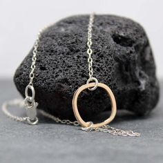 MODERN Round Square necklace by RoyalCountess on Etsy, $38.00