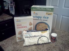 Rice Krispy Bars + Animal Crackers = A Delicious Fossil Lesson! This looks fun