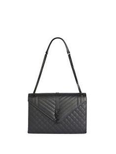 Saint Laurent - Monogram Large Quilted Leather Shoulder Bag