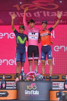 100th Tour of Italy 2017 / Stage 21 Podium / Nairo QUINTANA / Tom DUMOULIN Pink Leader Jersey/ Vincenzo NIBALI / Celebration / MonzaAutrodromo...