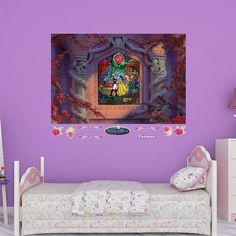 With 10 decals, you can let your child use their creativity to decorate their room. These DIY wall decals come in a variety of sizes, so you can decorate any room with them. Peel and stick, and it's removable and reusable without harming your walls. SHOP http://www.fathead.com/disney/beauty-and-the-beast/beauty-and-the-beast-stained-glass-wall-mural/ | Home Decor | Disney Kids DIY Bedroom Decor | Girl Bedroom