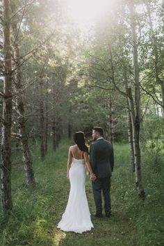 Woodland romance: http://www.stylemepretty.com/canada-weddings/manitoba/2015/05/27/romantic-manitoba-summer-garden-wedding/ | Photography: Josh Dookhie - http://www.joshdookhiephotography.com/