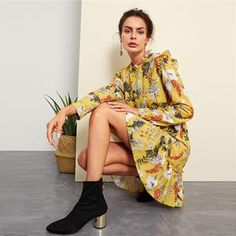 Belted Dress, Elegant Dresses, No Frills, Latest Trends, Kimono Top, Floral Prints, Rompers, Womens Fashion, Clothes