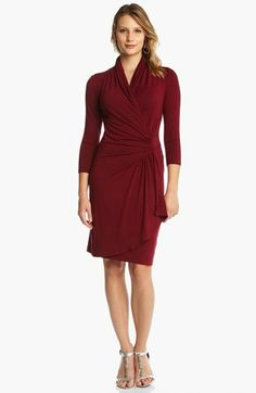 Karen Kane Cascade Faux Wrap Dress | Nordstrom....this would be the perfect Christmas party dress!