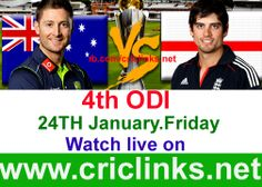 Friday 24th January....4th ODI between AUS vs England will be played at Perth...Aus lead 5 Match seris by 3-0 other hand england still sarching thair 1st win on Aussis soil.Match will be start 8.20 AM PST.8.50 AM IST.Watch live action only on http://www.criclinks.net/ #AusvsEng