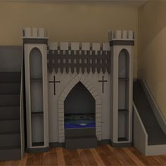 Knights Castle Bed Is Available As Bunk Or With Play Area Upstairs Www Bdichildrensfurniture