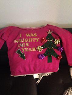 No Sew DIY Ugly Christmas Sweater | Ugliest christmas sweaters ...