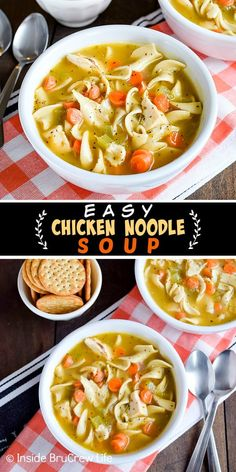 Chicken Noodle Soup Fun Easy Recipes, Easy Meals, Healthy Recipes, Soup Recipes, Amazing Recipes, Weeknight Meals, Rice Recipes, Easy Homemade Soups, Healthy Sweet Snacks