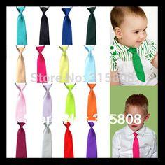 10 Pcs Pre-tied Gravata Corbatas Boy Slim Narrow Solid Neckwear Elastic toddle Tie Kids Baby School Boy Wedding Prom Necktie