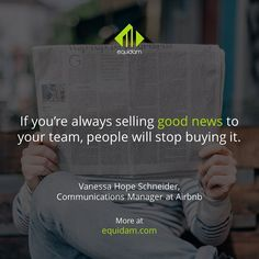 It can be very tempting for new executives to only deliver the good news  and just gloss over the unpleasant and uncomfortable. Cut that out. Your people will trust you more when you do. #leadership #CEO #founder #success #entrepreneur #startup #business #tech #startups #leadfromwithin #management #inspiration #influence #entrepreneurship #siliconvalley #bayarea #motivation #quote #growth #growthhacking #smallbiz #investment #investors #funding #HowTo #marketingtips #businesstips #leader…