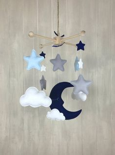 Baby mobile sleeping moon mobile sky mobile moon and | Etsy