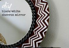 DIY Black and white chevron mirror — Amy Krist