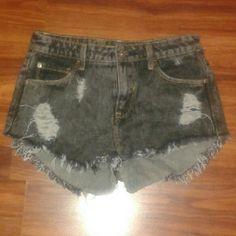 Shorts Black denim shorts  New without tags  Sz 5/6 Shorts Jean Shorts