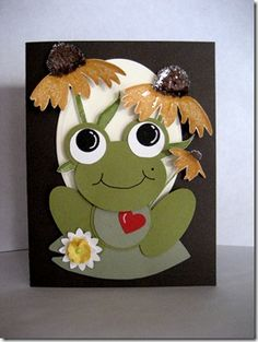 Cute Froggy - see the pinned instructions on how to make this little guy