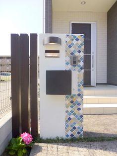 コラベル 門柱 Boundary Walls, House Front, Wall Design, Fence, Entrance, Exterior, Detail, Garden, Outdoor Decor