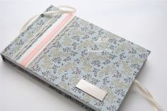 New---Le Pressoir----Engraved Satin Lace Cover Wedding Guest Book